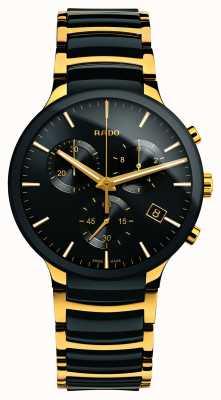 Rado Zaawansowany technologicznie ceramiczny chronograf Centrix XL w kolorze złotym R30134162