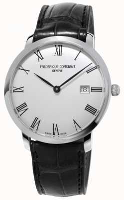 Frederique Constant Męskie | wąski | automatyczne | czarna skóra | srebrna tarcza FC-306MR4S6