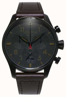 Alpina Startimerowy cień pilota | męskie | kwarc | chronograf AL-372BBG4FBS6