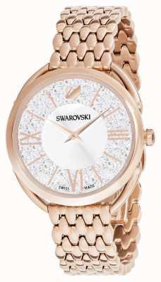 Swarovski | krystaliczny glam | bransoletka pozłacana | srebrna tarcza 5452465