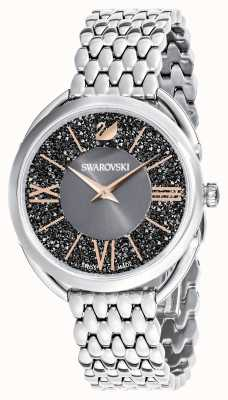 Swarovski | krystaliczny glam | bransoleta ze stali nierdzewnej | szara tarcza 5452468