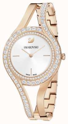Swarovski | wieczny | bransoleta ze stali w kolorze różowego złota | zestaw kryształów | biały 5377576