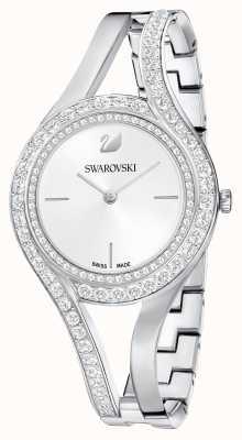 Swarovski | wieczny | bransoleta ze stali nierdzewnej | zestaw kryształów | biały 5377545