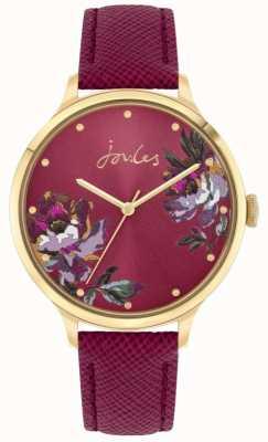 Joules | kobiety do kobiet | skórzany pasek z jagód | tarcza kwiatowa | JSL021RG