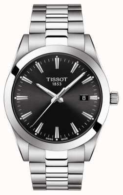 Tissot | dżentelmen | bransoleta ze stali nierdzewnej | czarna tarcza | T1274101105100