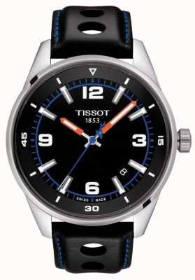 Tissot | alpejski | czarny skórzany pasek | czarna tarcza | T1236101605700