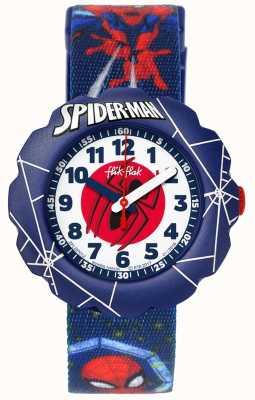 Flik Flak | Spider-Man w akcji | niebieski pasek z tkaniny | FLSP012