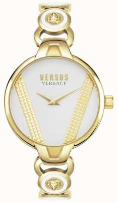 Versus Versace | święty germain | pozłacana stal nierdzewna | biała tarcza | VSPER0219