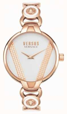 Versus Versace | święty germain | stal nierdzewna w kolorze różowego złota | biała tarcza VSPER0419