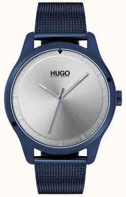 HUGO #move | niebieska bransoletka z siatki ip | niebieska tarcza | 1530045
