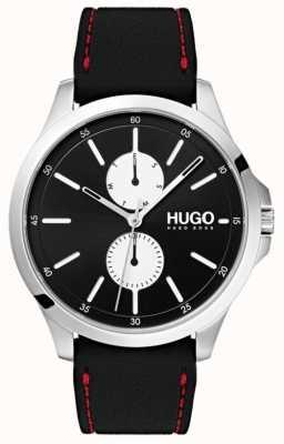 HUGO #jump | czarny gumowy pasek | czarna tarcza | 1530001
