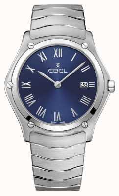EBEL | klasyczny sportowy męski | bransoleta ze stali nierdzewnej | niebieska tarcza 1216420A