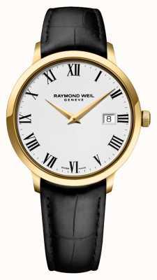 Raymond Weil Męskie | toccata | czarny skórzany pasek | biała tarcza 5488-PC-00300