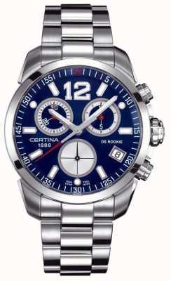 Certina Ds debiutant | chronograf | niebieska tarcza | Stal nierdzewna C0164171104700