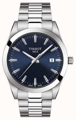 Tissot | dżentelmen | bransoleta ze stali nierdzewnej | niebieska tarcza | T1274101104100