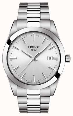 Tissot | dżentelmen | bransoleta ze stali nierdzewnej | srebrna tarcza | T1274101103100