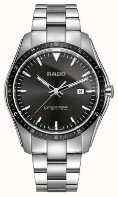 Rado Zegarek XXL z czarną tarczą z hiperchromem ze stali nierdzewnej R32502153