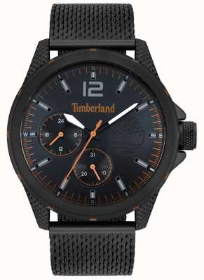 Timberland | męski taunton | czarna bransoletka z siatki | czarna tarcza | 15944JYB/02MM