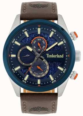 Timberland | przegląd mężczyzn | brązowy skórzany pasek | granatowa tarcza | 15953JSTBL/03