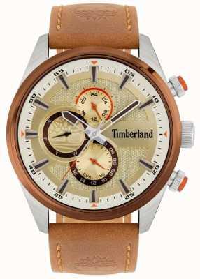 Timberland | przegląd mężczyzn | brązowy skórzany pasek | tarcza mineralna | 15953JSTBN/04