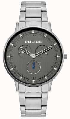 Police | berkeley dla mężczyzn | bransoleta ze stali nierdzewnej | szara tarcza | 15968JS/39M