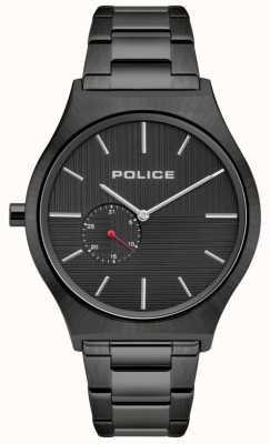 Police | męskie orkady | czarna bransoleta ze stali nierdzewnej | czarna tarcza 15965JSU/02M