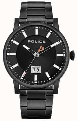 Police | collin dla mężczyzn | czarna bransoleta ze stali nierdzewnej | czarna tarcza 15404JSB/02M