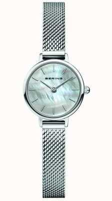 Bering | klasyczny damski | bransoletka ze stali | Matka perły 11022-004