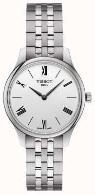 Tissot | tradycja kobiet | bransoleta ze stali nierdzewnej | srebrna tarcza T0632091103800