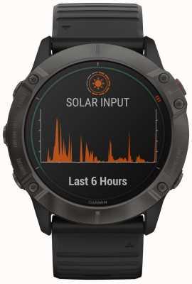 Garmin Fenix 6x pro tytan słoneczny | szary węglowy dlc | czarny pasek 010-02157-21