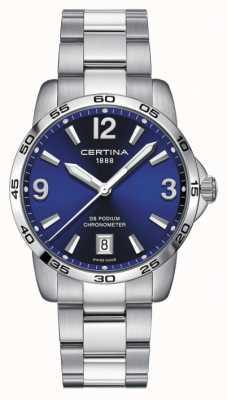Certina Mężczyźni ds podium | chronomer | 40 mm | niebieska tarcza | C0344511104700