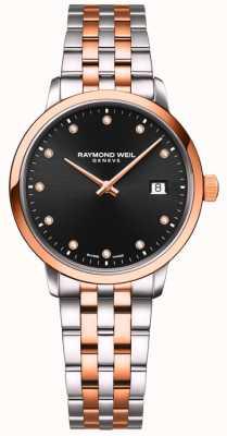 Raymond Weil | toccata dla kobiet | dwukolorowa bransoletka | czarny diament 5985-SP5-20081