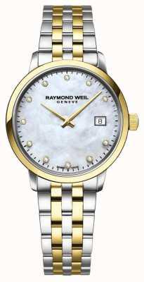 Raymond Weil Srebrna diamentowa masa perłowa 5985-STP-65081