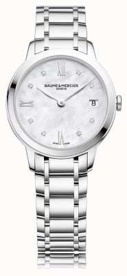 Baume & Mercier Diament Classima | bransoletka ze stali nierdzewnej z masy perłowej M0A10326