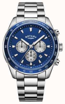 Rotary | Henley dla mężczyzn | niebieska tarcza chronografu | stal nierdzewna | GB05109/05