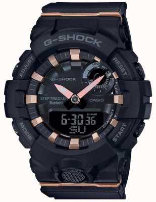Casio | g-shock g-squad | czarny gumowy pasek | bluetooth smart | GMA-B800-1AER
