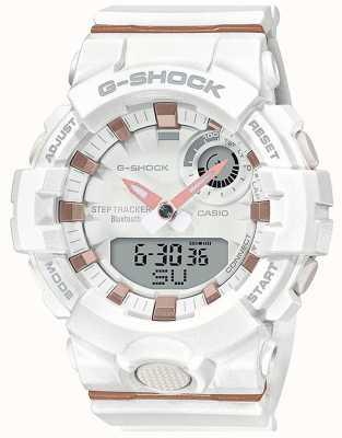 Casio | g-shock g-squad | biały gumowy pasek | bluetooth smart | GMA-B800-7AER