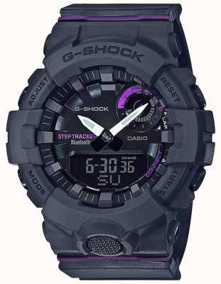 Casio | g-shock g-squad | szary gumowy pasek | bluetooth smart GMA-B800-8AER
