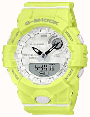 Casio Oddział G-Shock | żółty gumowy pasek | bluetooth smart | GMA-B800-9AER