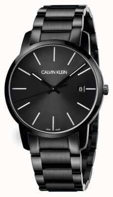 Calvin Klein | miasto mężczyzn | czarna bransoleta ze stali nierdzewnej | czarna tarcza | K2G2G4B1