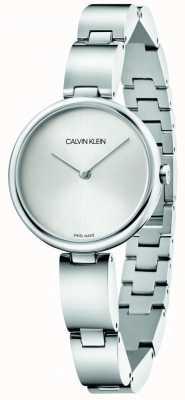 Calvin Klein | damska bransoleta ze stali nierdzewnej | srebrna tarcza | K9U23146