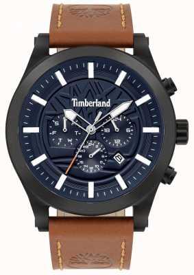 Timberland Doświadczony na ulicy | brązowy skórzany pasek | niebieska tarcza | 15661JSB/03