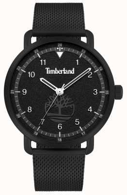 Timberland Lifestyler miejski | czarna stalowa bransoletka z siatki | czarna tarcza | 15939JSB/02MM