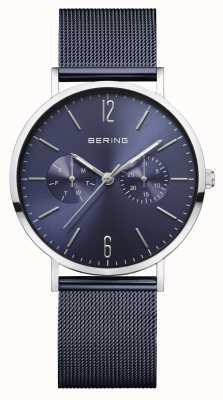 Bering | klasyczny damski | niebieska bransoletka z siatki | niebieska tarcza | 14236-303