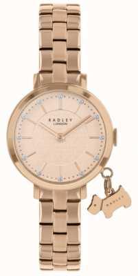 Radley Pozłacany zegarek Selby Street RY4398