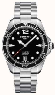 Certina Męskie | ds action | chronometr | Stal nierdzewna C0324511105700