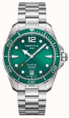 Certina Ds chronometr działania zielona tarcza C0324511109700