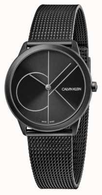 Calvin Klein Unisex | minimalna | czarna siatka pvd | czarna tarcza K3M5245X