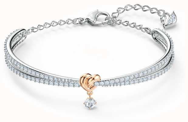 Swarovski | całe życie serca metal mieszany | bransoletka | biały 5516544