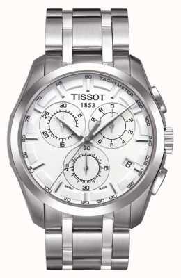 Tissot Męski chronograf Couturier ze stali nierdzewnej srebrna tarcza T0356171103100